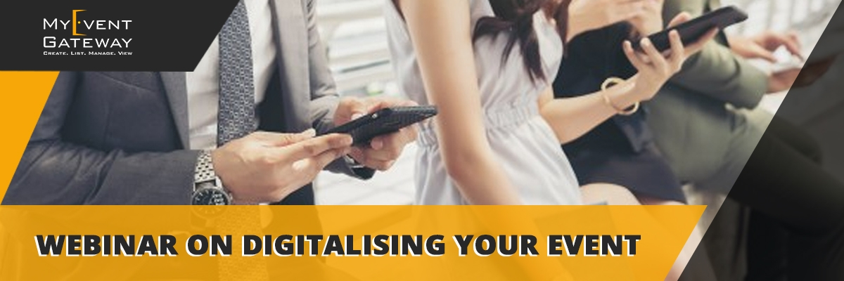 Webinar on Digitalising Your Next Event