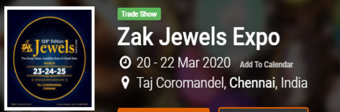 Trade Show Zak Jewels Expo